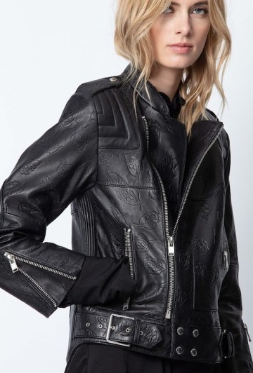 French Clothing Brand Zadig Voltaire Parisian Style Leather Jacket Paris Chic Style