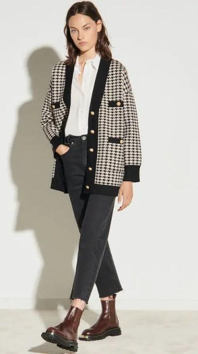 French Clothing Fashion Brand Parisian Style Cardigan Jacket Paris Chic Style