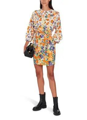 French Style Floral Print Dress Roseanna Parisian Fashion Paris Chic Style