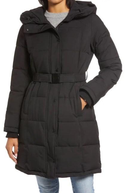 Best Winter Coats For Women Warm Jackets Parisian Style Belted Puffer Coat Sam Edelman
