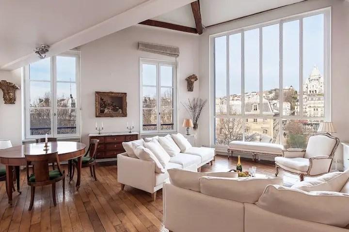 Romantic French Home Airbnb In Paris With Montmartre & Sacre Couer Views Paris Loft Apartment For Rent Paris Chic Style