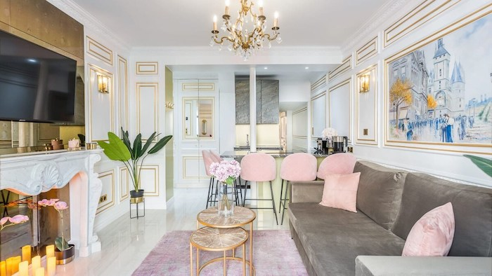 Cheap Luxury Airbnb In Eiffel Tower Paris Apartment For Rent For Holiday Anti-Covid Cleaning Paris Chic Style