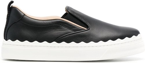 Chloe French Parisian Shoes Black Slip On Sneakers For Work, Walking, Street Style, Everyday Shoes, Work, Travel Paris Chic Style