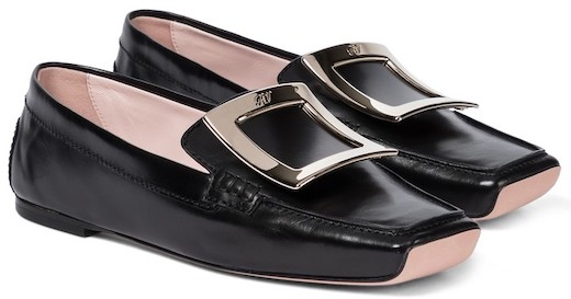 Roger Vivier Black French Loafers French Girls Style Parisian Shoes For Walking Travel Paris Chic Style