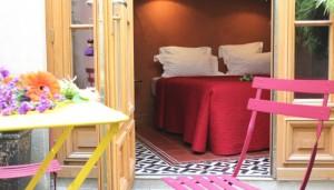 Hotel Prince de Conti gårdhave