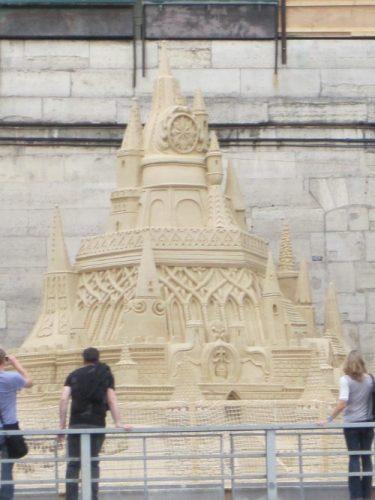 Paris plage château de sable