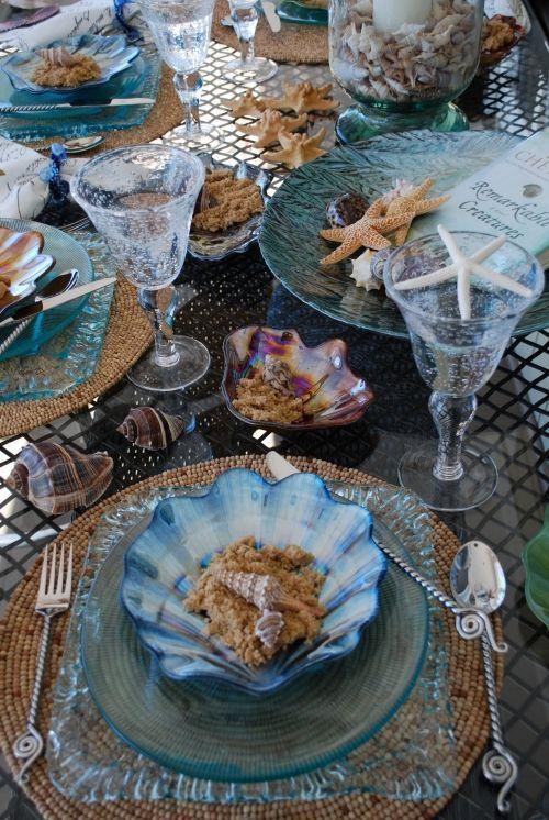 mariage-thème-bord-de-mer-coquillages-table