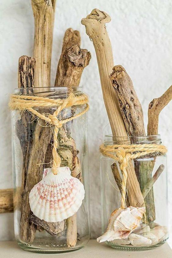 mariage-thème-bord-de-mer-bois-flottant-coquillage