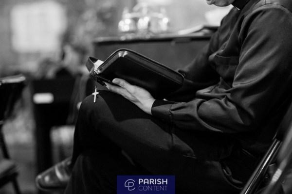 Seminarian Reading The Bible