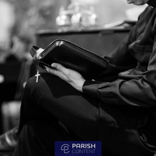 Seminarian Reading The Bible