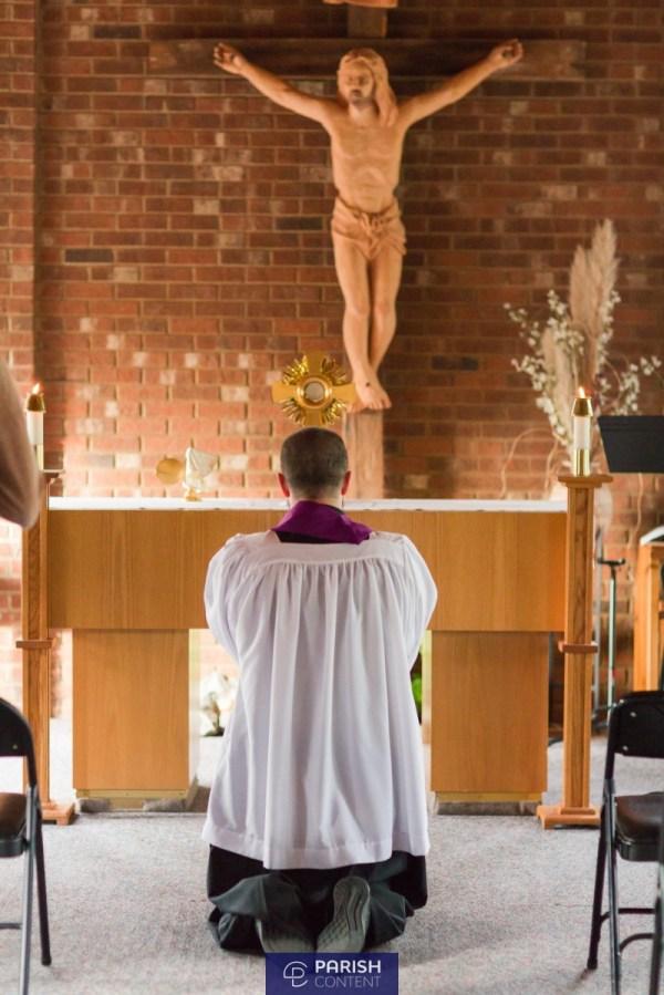 Praying In Chapel