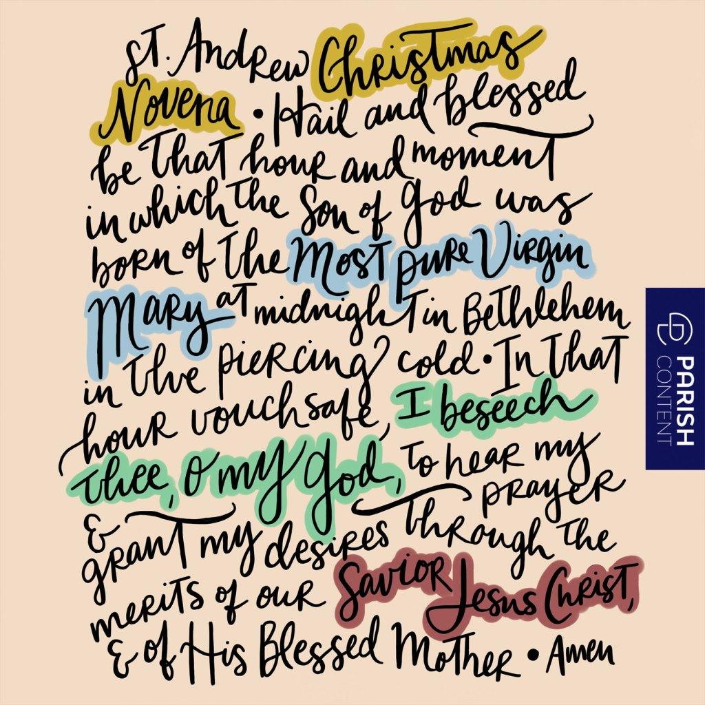 St Andrew Christmas Novena