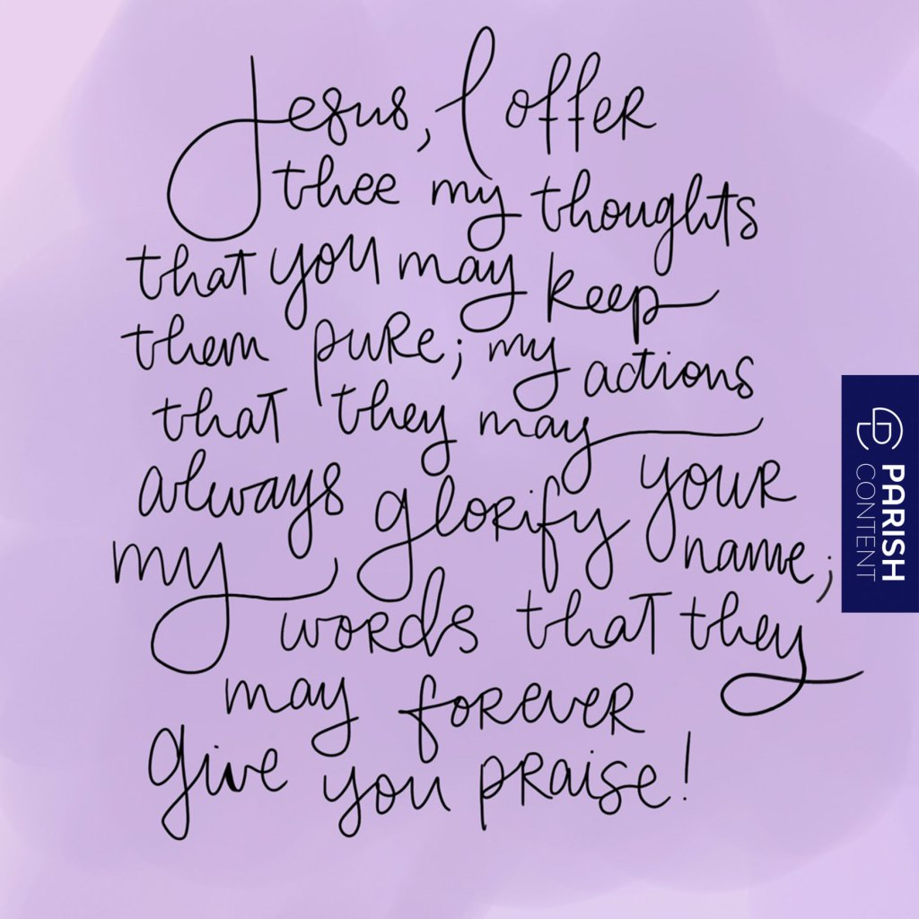 Give The Lord Your Thoughts Today