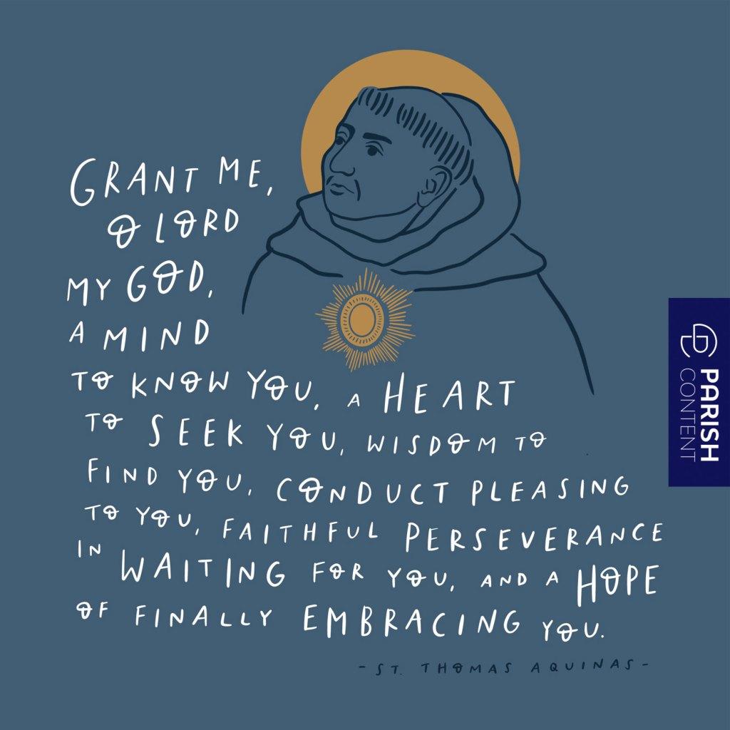 St Thomas Aquinas Feast Day