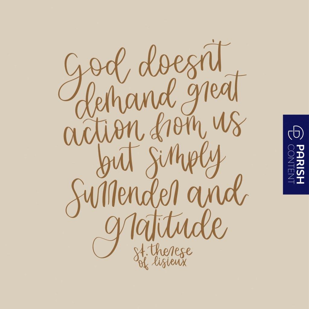 Surrender And Gratitude