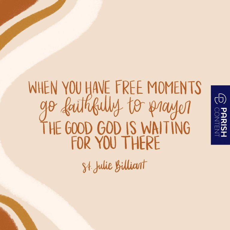 Socialpost Saint Julie Feast Day