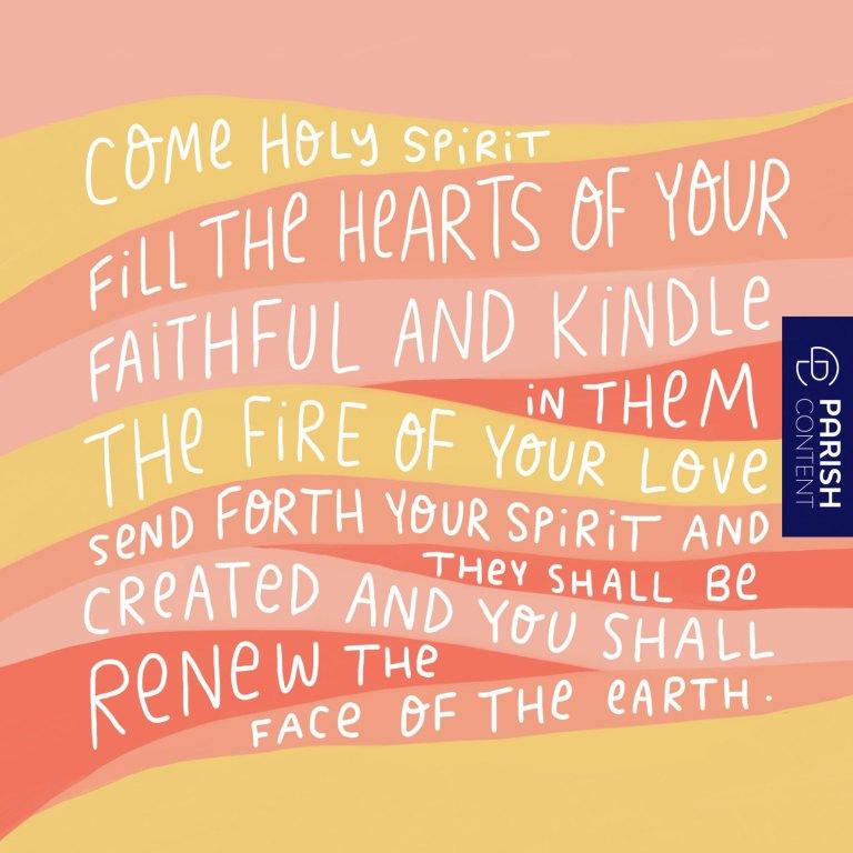 Socialpost Come Holy Spirit