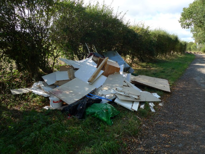 Fly-tipped rubbish by Philip Bragg
