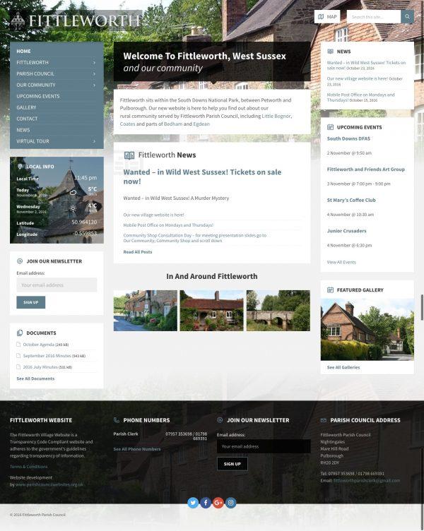 new fittleworth parish council website
