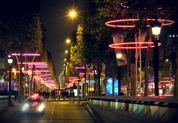 Paris Champs Elysees Christmas Lights