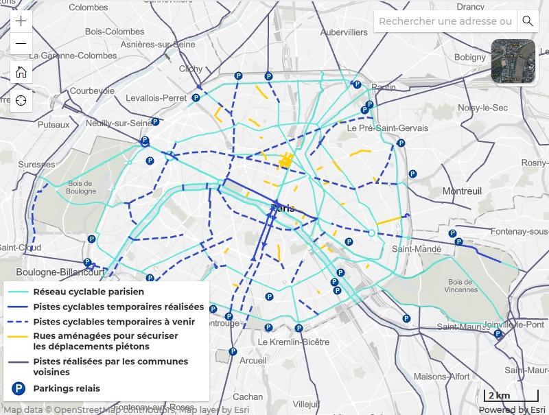 Carte Paris Transports Déconfinement