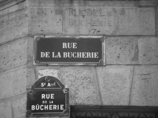 Plaque Rue de la Bûcherie
