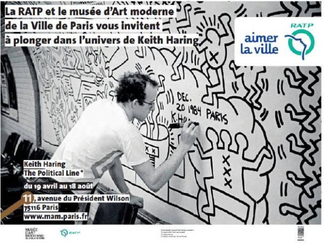Keith Haring Alma Marceau 1984 - Crédits RATP