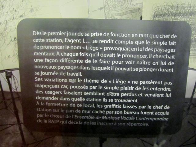Le nouvel aménagement culturel à la station Liège