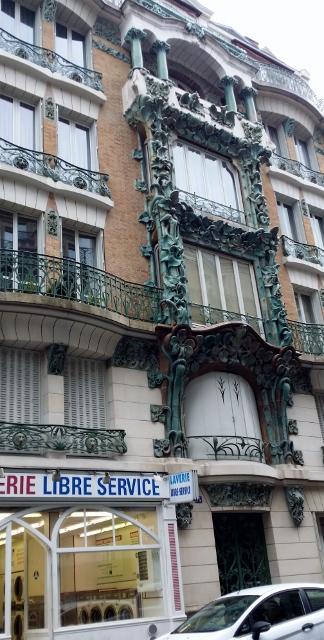 Art nouveau paris d tails d 39 un immeuble belle poque for Architecte abbeville