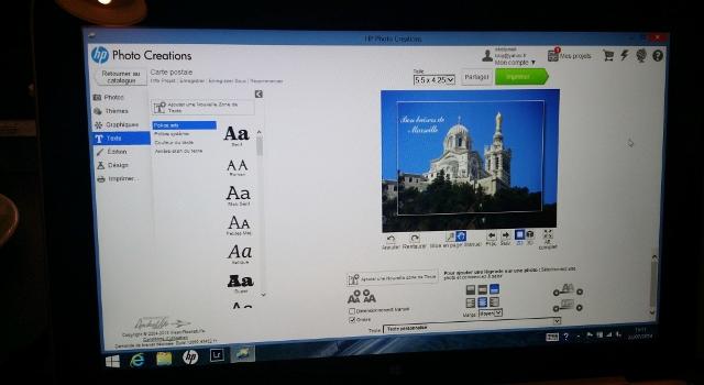 Cartes postales personnalisées grâce à HP Photo Creations