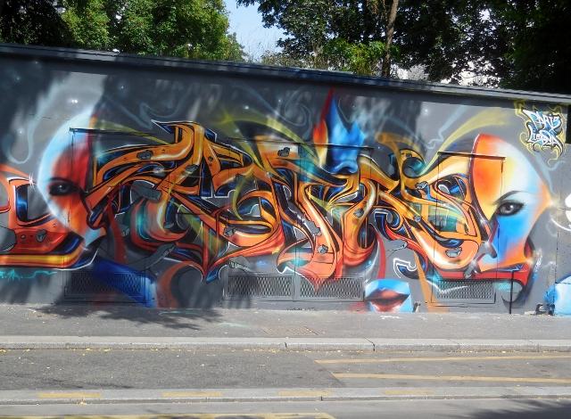 Street art rue de l'Ourcq