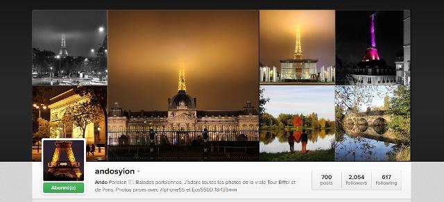 Compte Instagram andosyion Ando