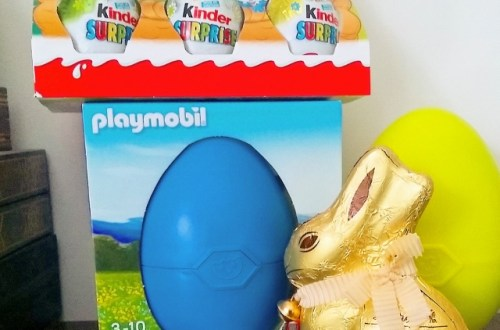 Pâques Kinder, Lindt et Playmobil
