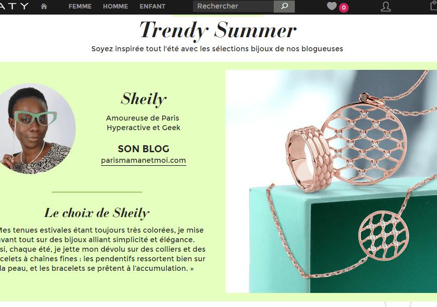Mes looks de Parisienne et ma sélection de bijoux Maty.com