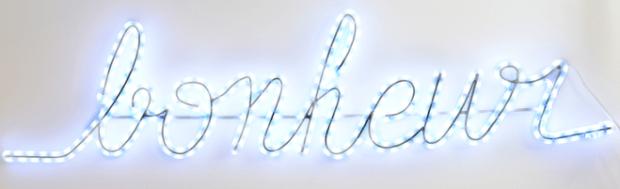 Mots lumineux Blachère