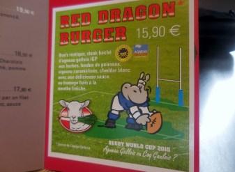Red Dragon Burger à l'agneau gallois chez Red d'Hippo