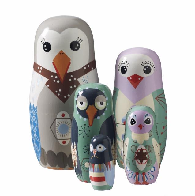 Déco animaux Bird Family Fleux (637x640)
