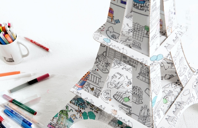 La Tour Eiffel à colorier La Plume de Louise (4)