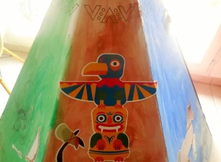 Tipi en carton Wiplii décoré (2)