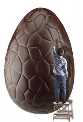 Chasser à Pâques Oeuf géant du Musée du chocolat
