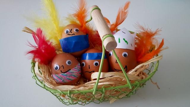 Enfants à Pâques oeufs Franprix (5)