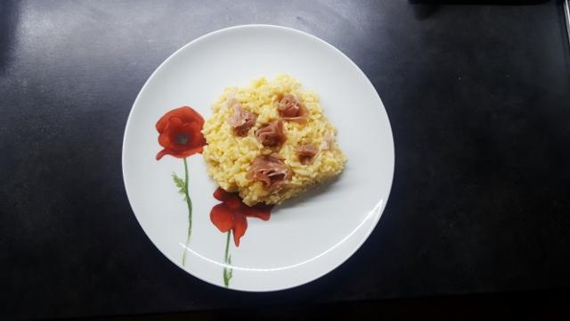risotto au jambon de Parme