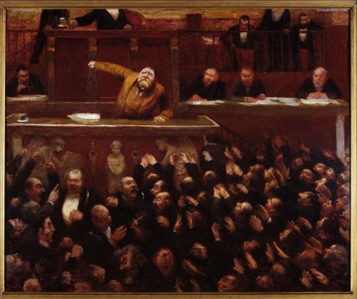 Jean Jaurs 18591914  la tribune de la Chambre des dputs  Paris Muses