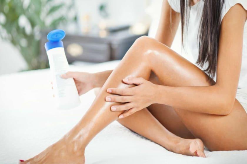 Hautpflege nach der Enthaarung