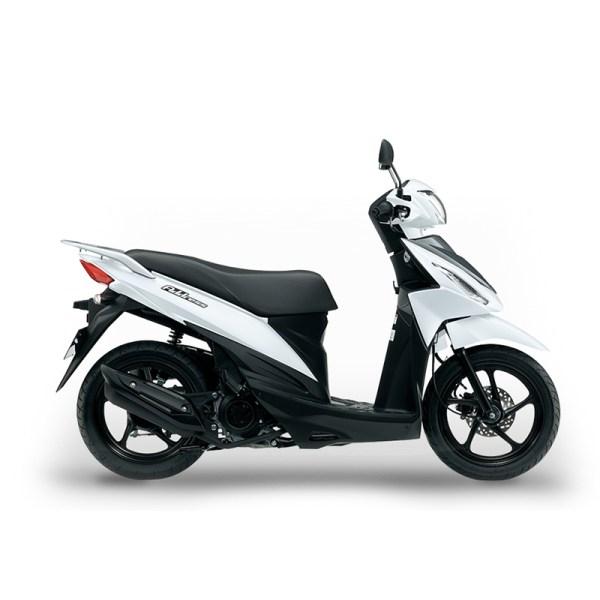 image Scooter Adress 50 blanc Suzuki Paris Nord Moto
