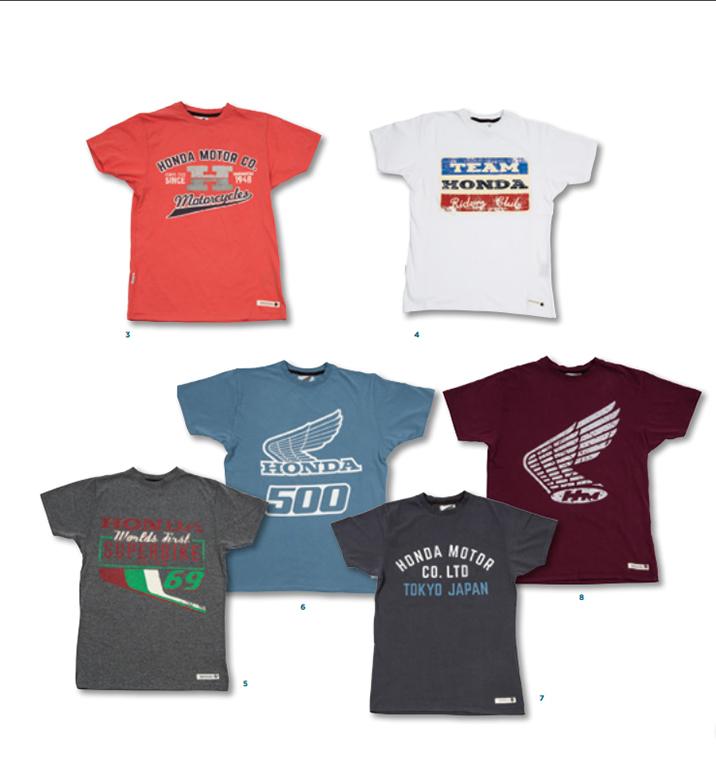 Vêtements T-shirt officiels Honda en vente chez Paris Nord Moto