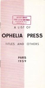 Ophelia 59 Cover