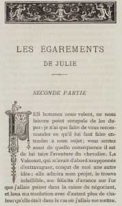 Les égarements de Julie. Conte Moral. Brancart 1883