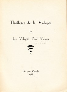 Florileges de la Volupte Losfeld_0002