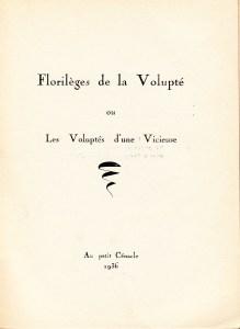Florileges de la Volupte Losfeld_0002